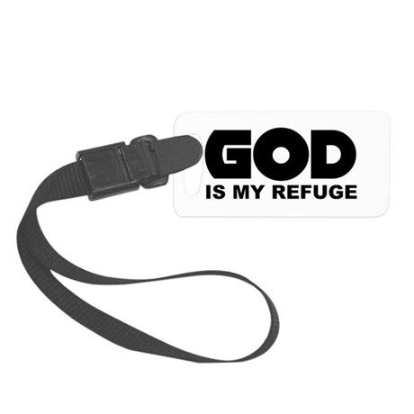 God is Refuge Small Luggage Tag