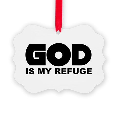 God is Refuge Picture Ornament