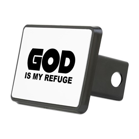 God is Refuge Rectangular Hitch Cover