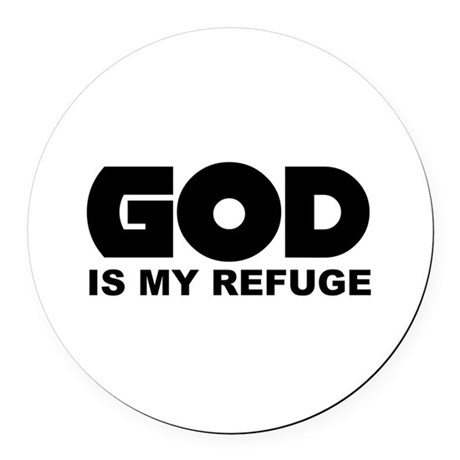 God is Refuge Round Car Magnet