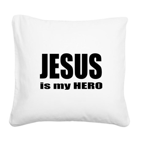 hero Square Canvas Pillow