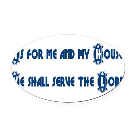 My House Oval Car Magnet