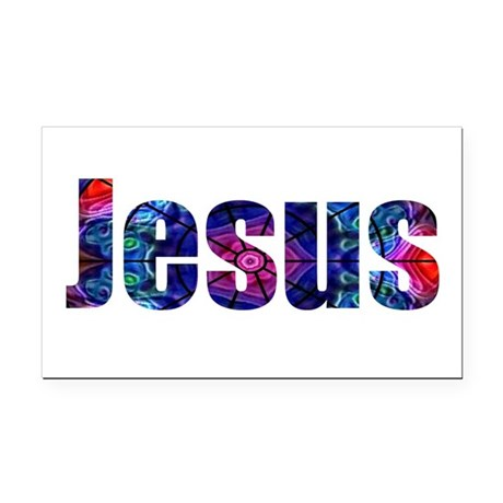 Jesus Rectangle Car Magnet
