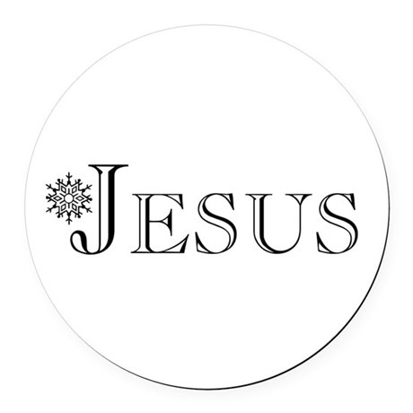 Jesus Round Car Magnet