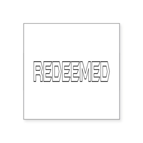 "Redeemed Square Sticker 3"" x 3"""