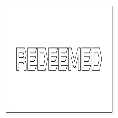 "Redeemed Square Car Magnet 3"" x 3"""