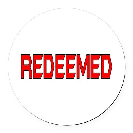 Redeemed Round Car Magnet