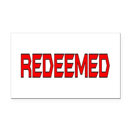 Redeemed Rectangle Car Magnet
