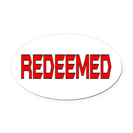 Redeemed Oval Car Magnet