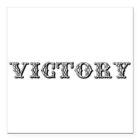 VICTORY Square Car Magnet 3&quot; x 3&quot;