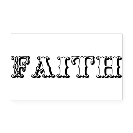 Faith Rectangle Car Magnet