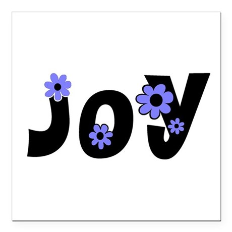 "Joy Square Car Magnet 3"" x 3"""
