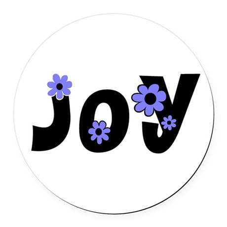 Joy Round Car Magnet