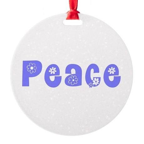 Peace Round Ornament