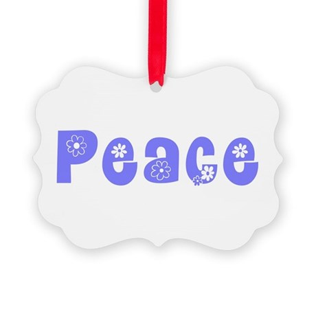 Peace Picture Ornament