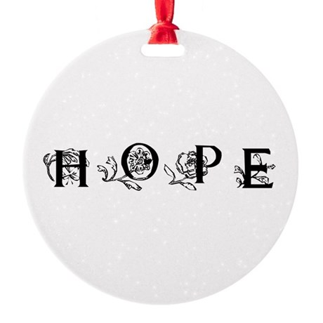 Hope Round Ornament