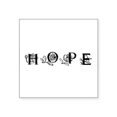 "Hope Square Sticker 3"" x 3"""