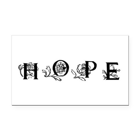 Hope Rectangle Car Magnet