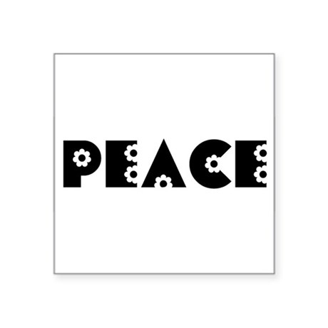 Peace Square Sticker 3&quot; x 3&quot;