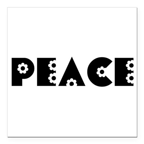 Peace Square Car Magnet 3&quot; x 3&quot;