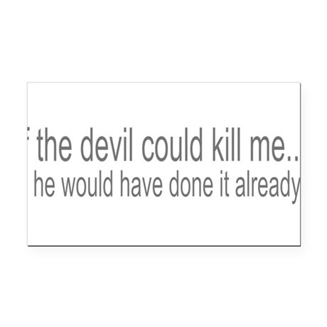 devilcouldve3.png Rectangle Car Magnet