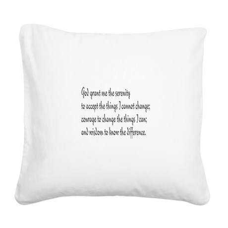 Serenity Prayer Square Canvas Pillow