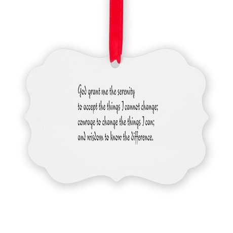 Serenity Prayer Picture Ornament