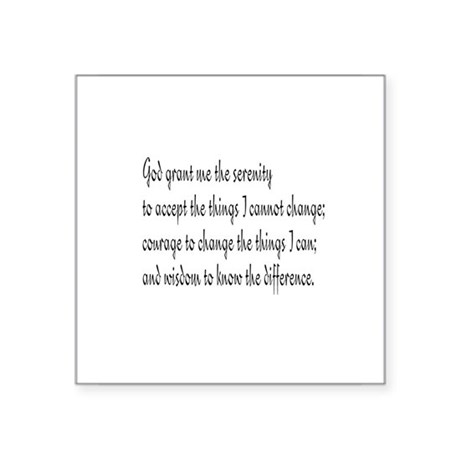 "Serenity Prayer Square Sticker 3"" x 3"""