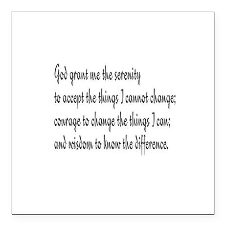 "Serenity Prayer Square Car Magnet 3"" x 3"""