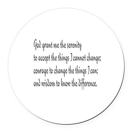 Serenity Prayer Round Car Magnet