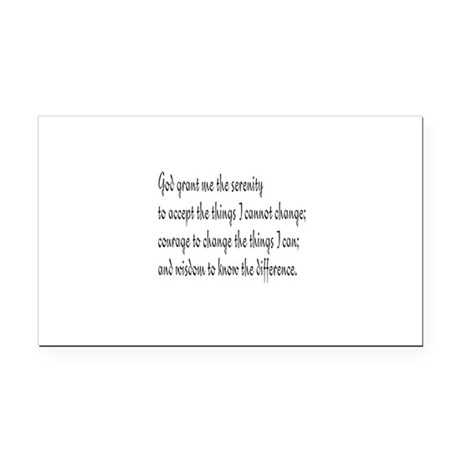 Serenity Prayer Rectangle Car Magnet