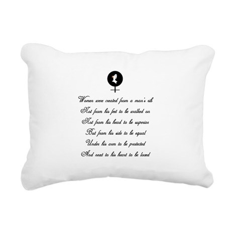 women Rectangular Canvas Pillow