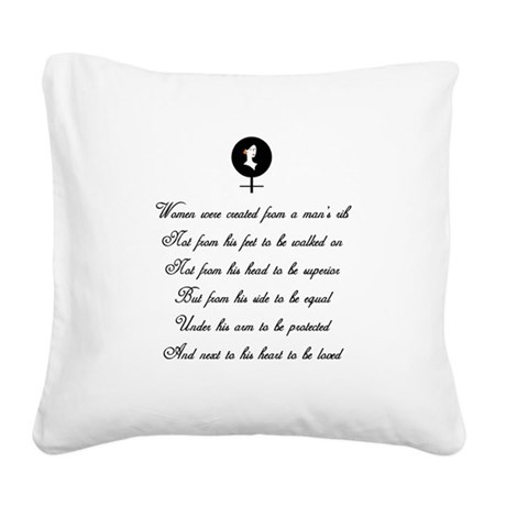 women Square Canvas Pillow