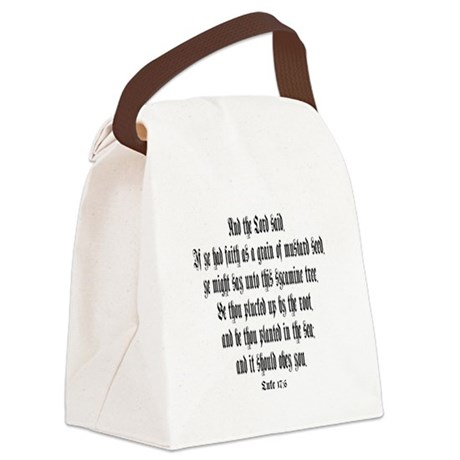 luke 17:6 Canvas Lunch Bag