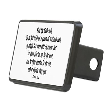 luke 17:6 Rectangular Hitch Cover