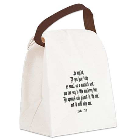 luke17_6b.png Canvas Lunch Bag
