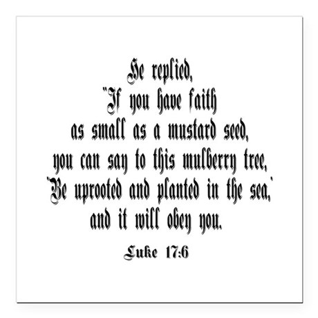 "luke17_6b.png Square Car Magnet 3"" x 3"""