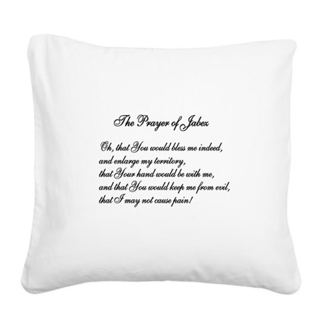 The Prayer of Jabez Square Canvas Pillow