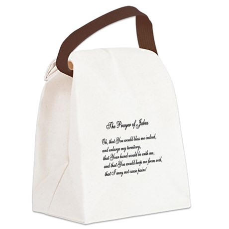 The Prayer of Jabez Canvas Lunch Bag