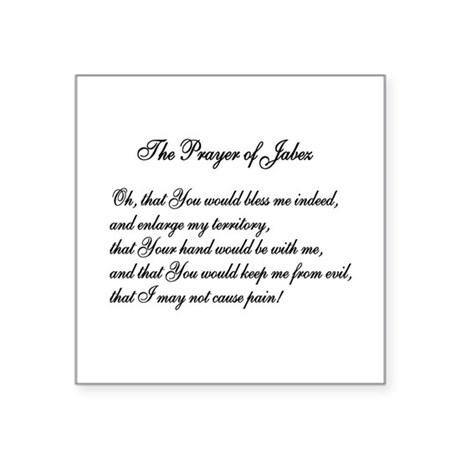 "The Prayer of Jabez Square Sticker 3"" x 3"""
