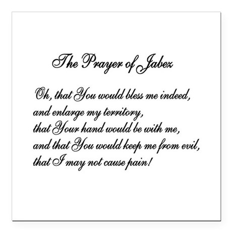 "The Prayer of Jabez Square Car Magnet 3"" x 3"""