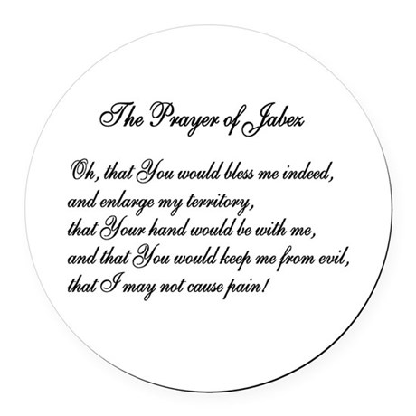 The Prayer of Jabez Round Car Magnet