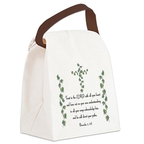 Proverbs Canvas Lunch Bag