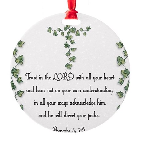 Proverbs Round Ornament