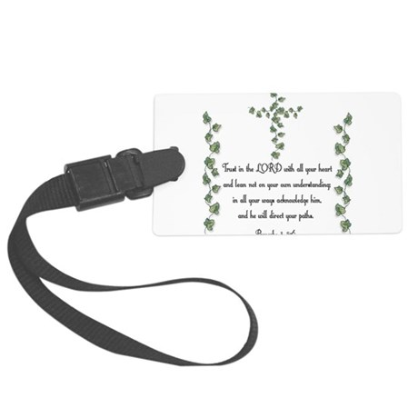 Proverbs Large Luggage Tag