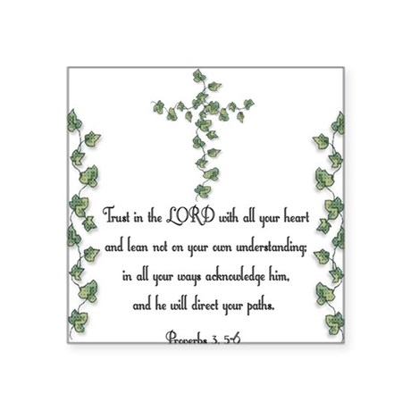 "Proverbs Square Sticker 3"" x 3"""