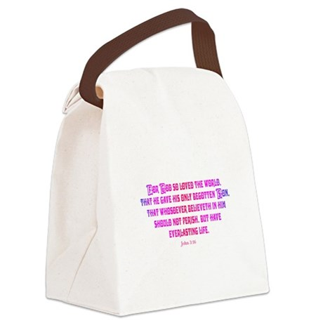 John 3:16 Canvas Lunch Bag