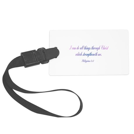 Philippians 4:13 Large Luggage Tag