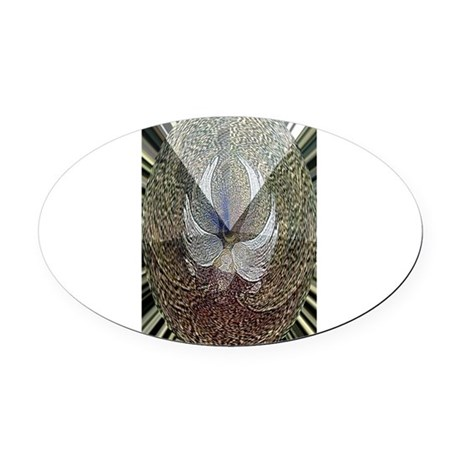 Guardian Angel Oval Car Magnet