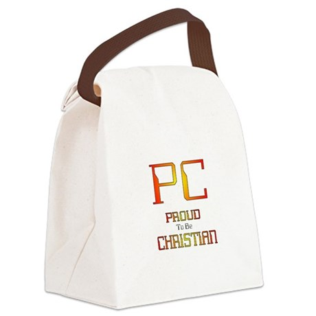 Proud to be Christian Canvas Lunch Bag